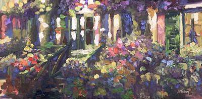 Monet's Home In Giverny Art Print by Donna Tuten