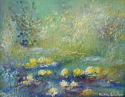 Lilly Pond Painting - Monet's Lilly Pond by Elsa Cristina Gailor