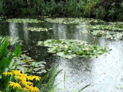 Photograph - Monet's Lily Pond by Barbie Corbett-Newmin