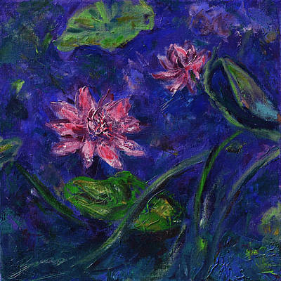 Painting - Monet's Lily Pond II by Xueling Zou