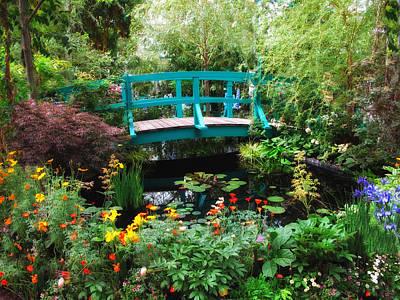Irises Digital Art - Monet's Lily Pond by Jessica Jenney