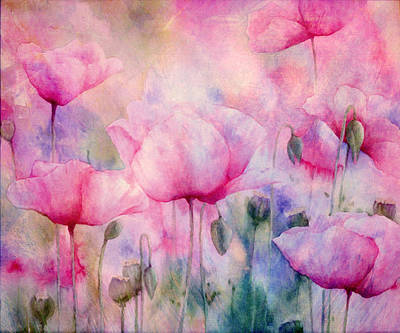 Pink Photograph - Monet's Poppies Vintage Cool by Georgiana Romanovna