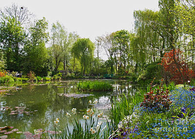 Monet's Water Garden At Giverny Art Print by Alex Cassels