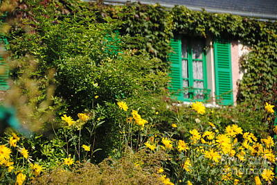 Photograph - Monet's Window At Giverny by Jacqueline M Lewis