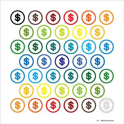 Digital Art - Money And Emotion Tnm by Mark Van den dries