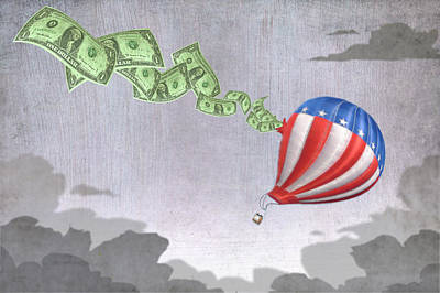 Money Balloon Art Print