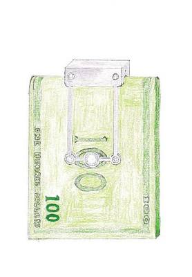 Money Clip Art Print