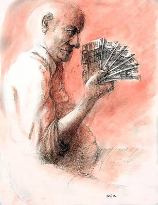 Betlej Painting - Money Keeper by Piotr Betlej