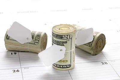 Money Rolls On Calendar Art Print by Joe Belanger