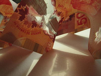 Photograph - Money Sculpture by Alfred Ng