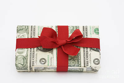 Photograph - Money Wrapped Gift by Diane Macdonald