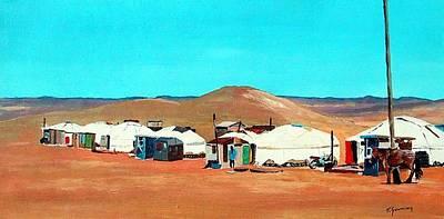 Irish Landscape Painting - Mongolian Oasis by Tony Gunning