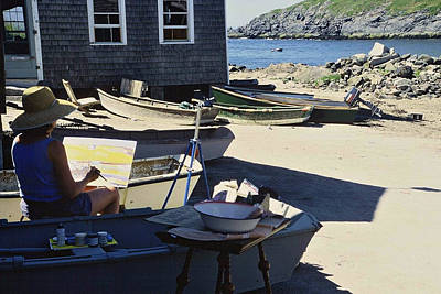 Photograph - Monhegan Artist At Work by AnnaJanessa PhotoArt