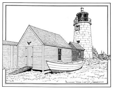 Monhegan Island Light Art Print