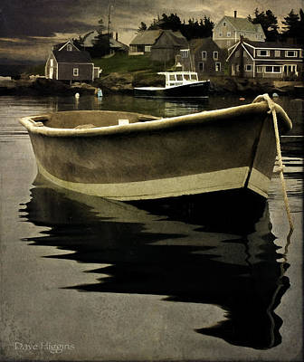 Digital Art - Monhegan Island Skiff  by Dave Higgins