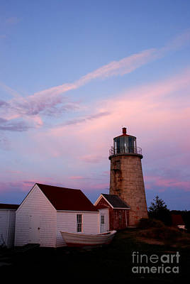 Photograph - Monhegan Lighthouse 110 by Cindy McIntyre