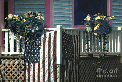 Painting - Monhegan Patriot by Cindy McIntyre