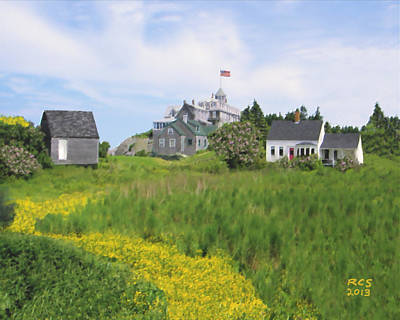 Digital Art - Monhegan Spring by Richard Stevens