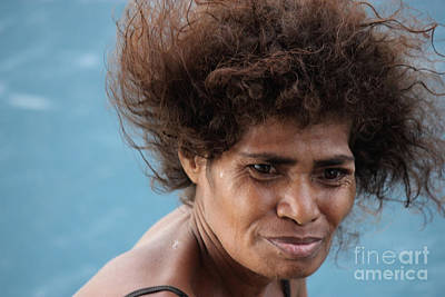 Print featuring the photograph Monica From Papua New Guinea by Jola Martysz