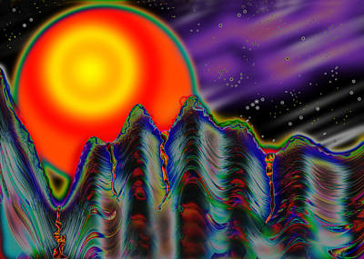 Abstract Other Worlds Digital Art - Moniker by Melinda Fawver