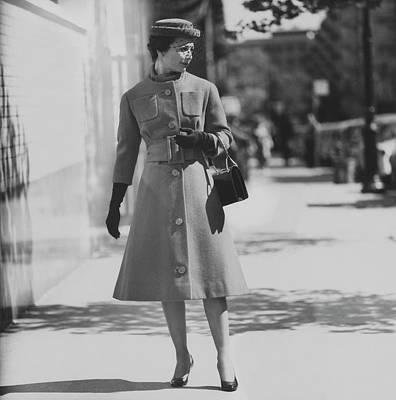 Monique De Nervo In A Coat By Patou Art Print