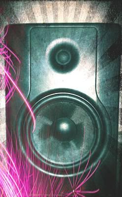 Monitor Speaker - In The Studio Art Print by Brian Howard