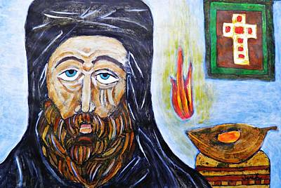 Orthodox Painting - Monk 2 by Sarah Loft