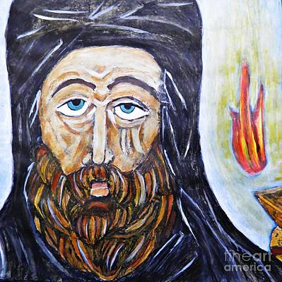 Orthodox Painting - Monk 3 by Sarah Loft