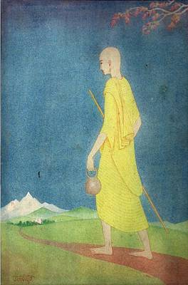 Half God Painting - Monk by Tulsidas Tilwe