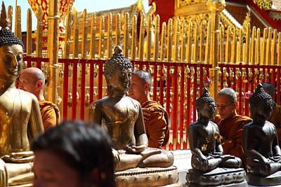 Phrathat Photograph - Monk Ceremony - Wat Phrathat Doi Suthep - Chiang Mai Thailand - 01136 by DC Photographer