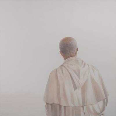 Contemplative Photograph - Monk, Santantimo I, 2012 Acrylic On Canvas by Lincoln Seligman