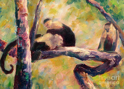 Painting - Monkey Business by Carolyn Jarvis
