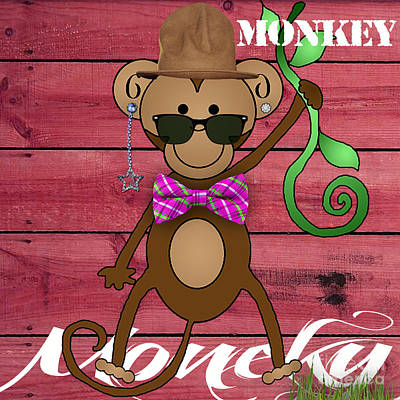 Monkey Business Collection Art Print