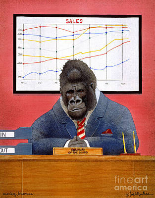 Gorilla Painting - Monkey Business... by Will Bullas