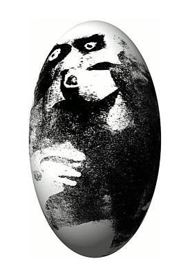 Premature Babies Digital Art - Monkey In The Egg by Krzysztof Spieczonek
