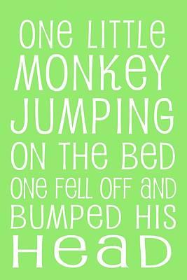Digital Art - Monkey Jumping On The Bed by Jaime Friedman
