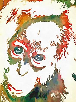 Monkey Pop Art Art Print