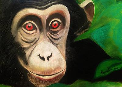 Painting - Monkey See by Renee Michelle Wenker