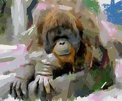 Pet Portraits Digital Art - Monkey by Yury Malkov