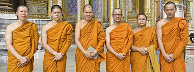 Monks At The Grand Palace Art Print