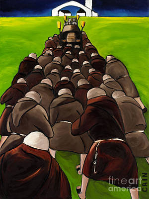 Monks Funeral Art Print by William Cain