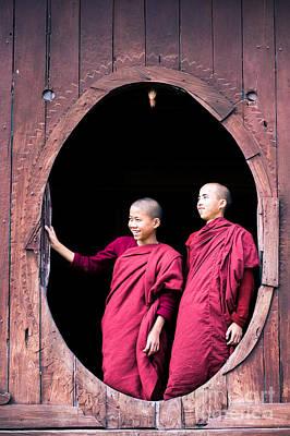 Monks Life - Myanmar Art Print