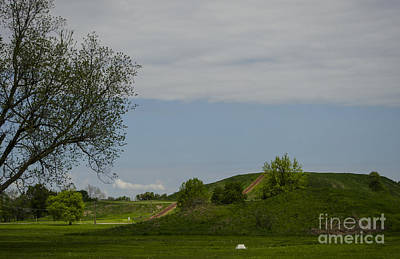 Photograph - Monks Mound Cahokia Illinois by Deborah Smolinske