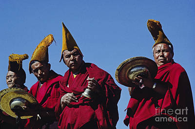Photograph - Monks Play Music - Tikse Monastery Ladakh by Craig Lovell