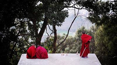 Photograph - Monks Playing by Greg Holden