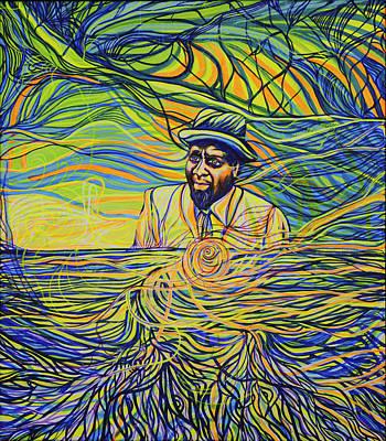 Monk's Smile Art Print by Lola Lonli