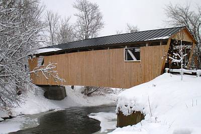 Photograph - Monkton Covered Bridge by Ishana Ingerman