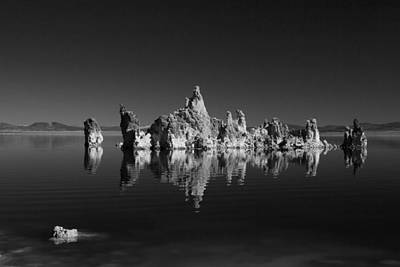 Photograph - Mono Lake And Tufas Black And White by Greg Kluempers
