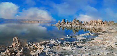 Photograph - Mono Lake Cloud Reflections by Steve McKinzie