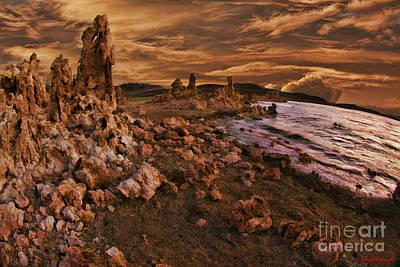 Photograph - Mono Lake Orange Evening by Blake Richards